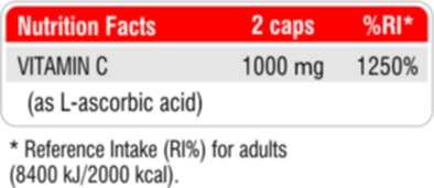 Vitamin C 1000 Nutrition Facts