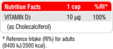 Vitamin D3 Nutrition Facts
